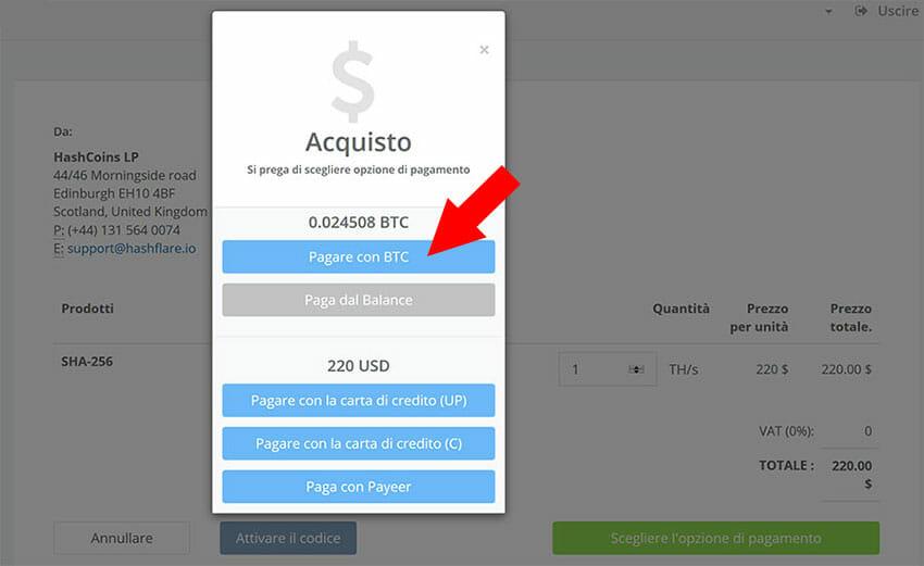 comprare bitcoin hashflare