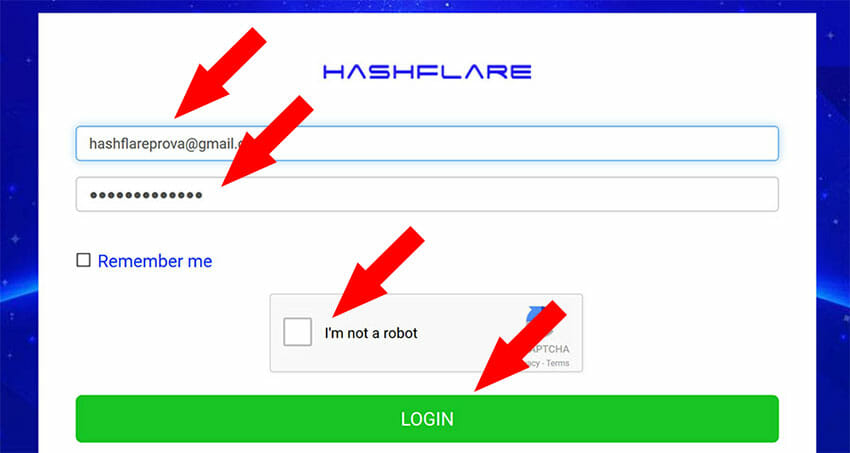 hashflare login