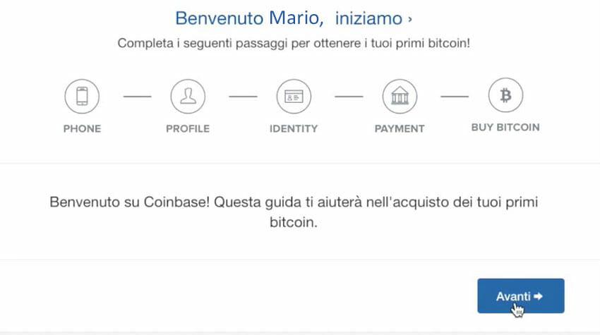1. account coinbase conferma