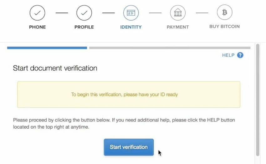 4. verifica documenti identità coinbase