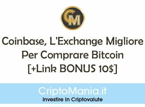 Coinbase, L'Exchange Migliore Per Comprare Bitcoin [+Link BONUS 10$]