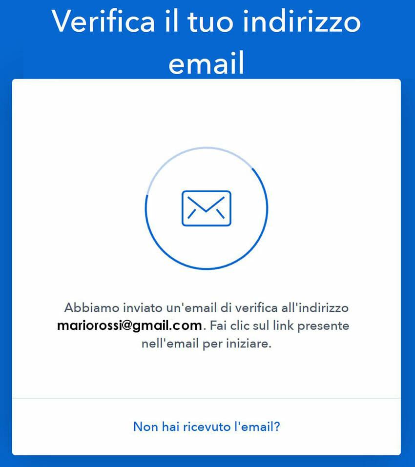 verifica email coinbase