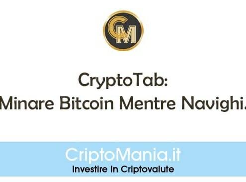 CryptoTab: Minare Bitcoin Mentre Navighi. Come Guadagnare In Automatico Bitcoin Gratis.