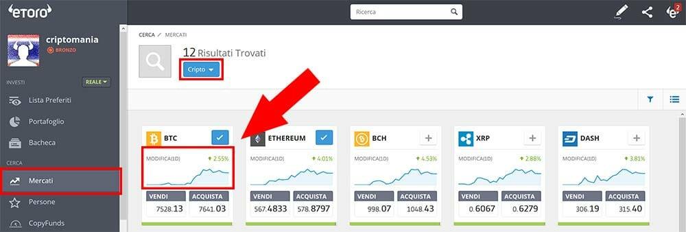come fare bitcoin trading con etoro