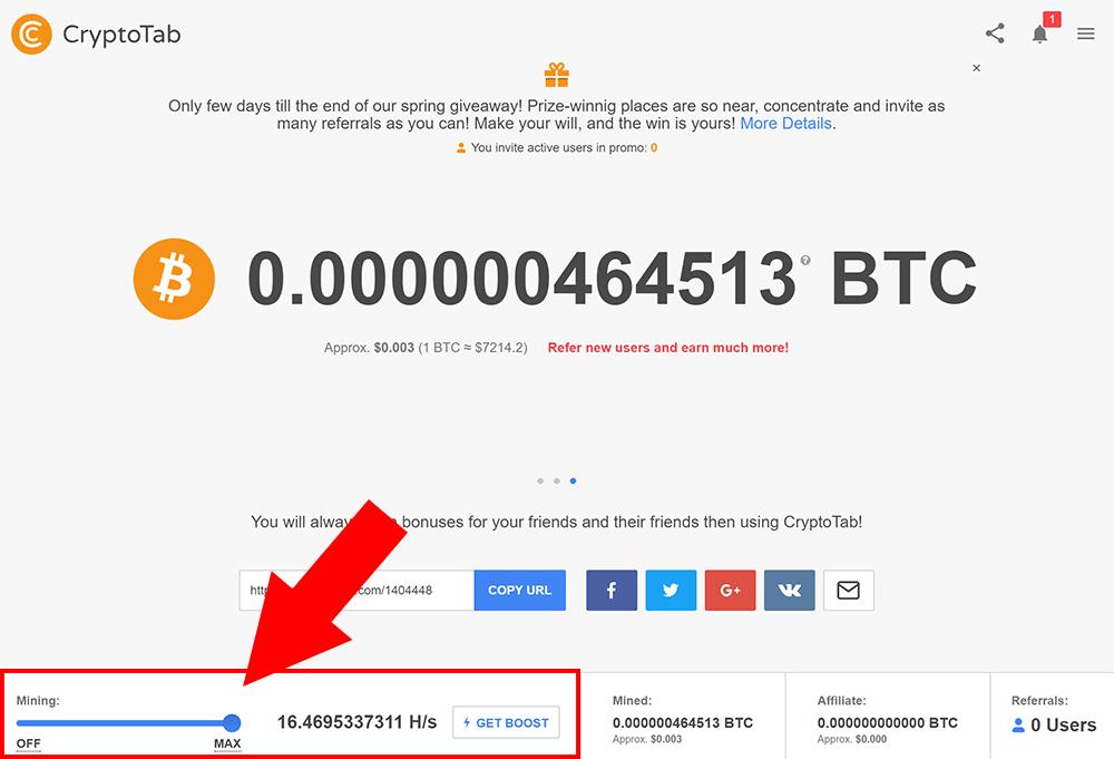 cryptotab bitcoin mining