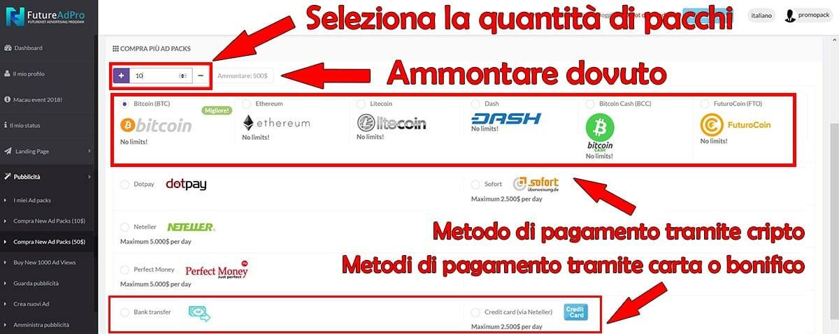 metodi di pagamento bitcoin carta di credito