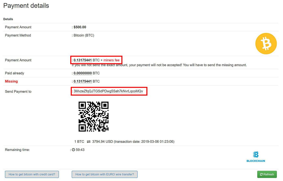 pagamento adpack bitcoin
