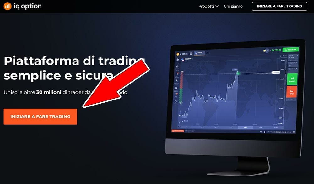 step 1 - inizia a fare trading iq option