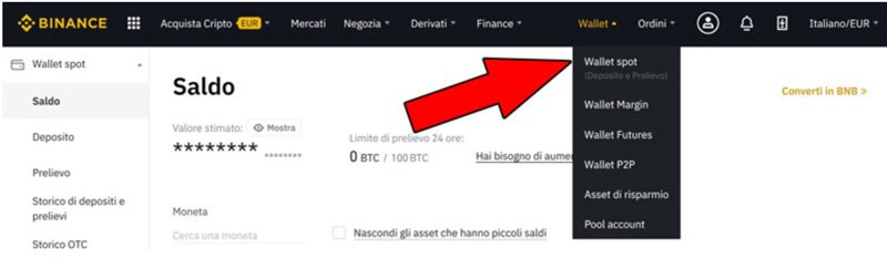binance wallet bitcoin btc criptovalute