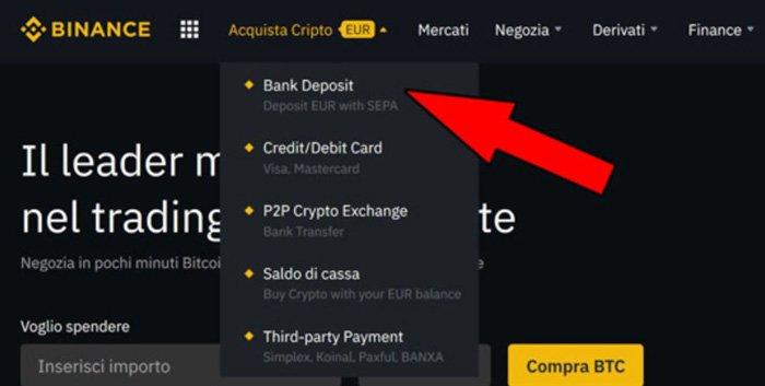 comprare bitcoin bonifico conto corrente