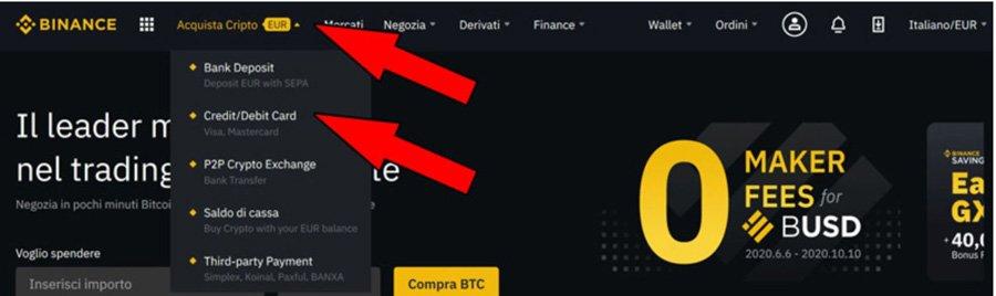 comprare bitcoin con carta