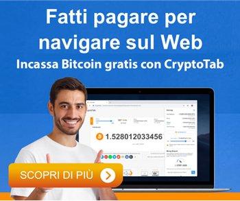 Naviga con CryptoTab e guadagna Bitcoin gratis
