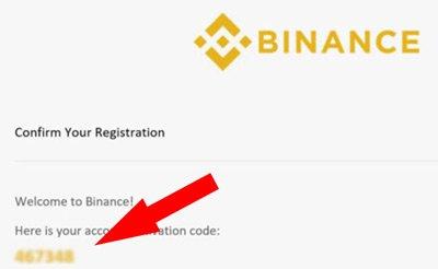 email binance codice conferma