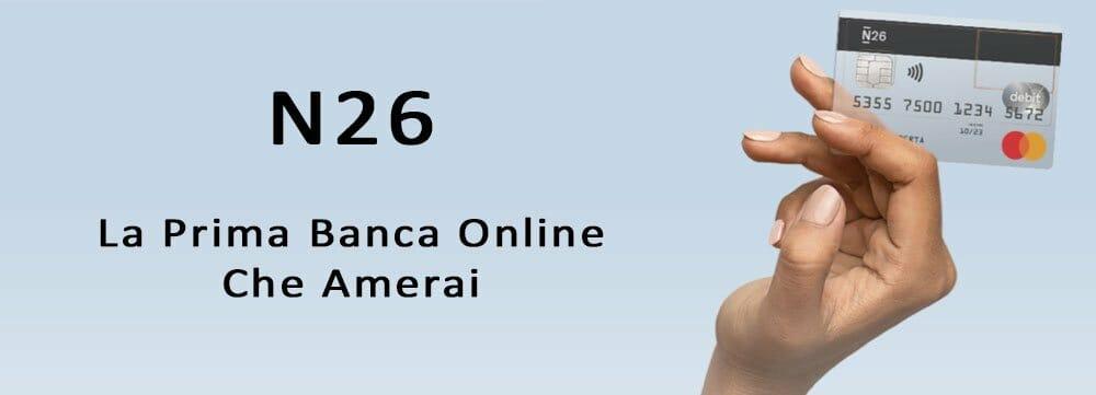 n26 recensione opinioni banca online conto corrente online
