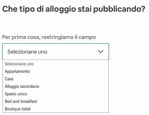airbnb italia affittare appartamento