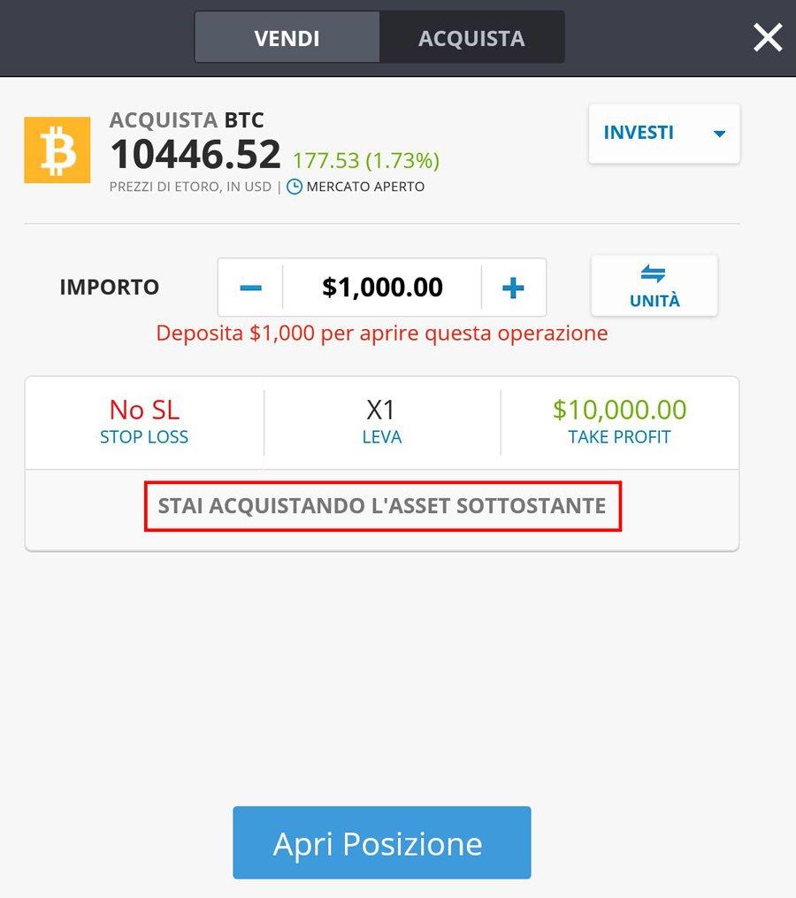 acquisto bitcoin con etoro
