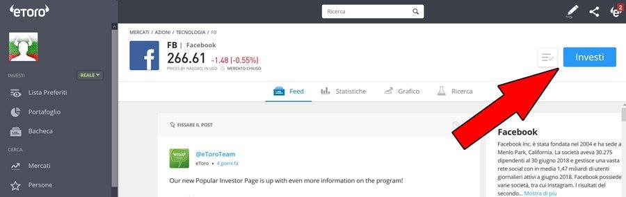 come investire su facebook
