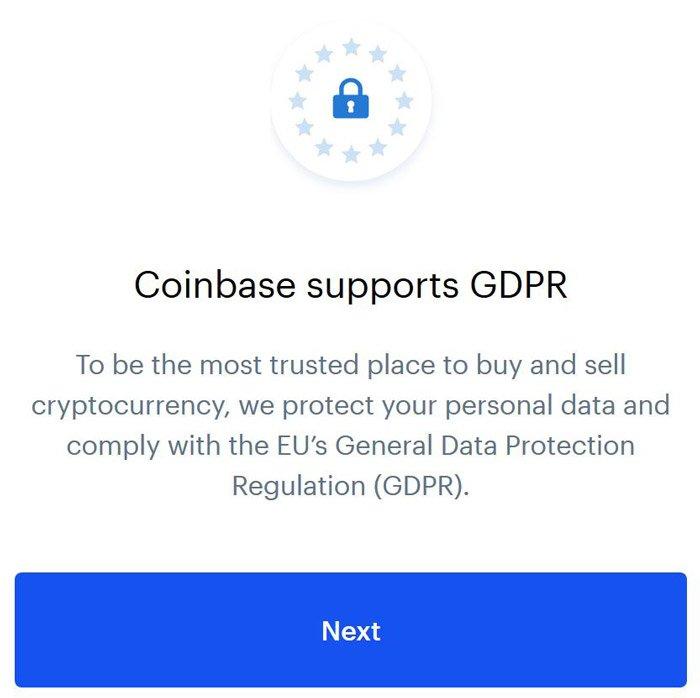 coinbase gdpr