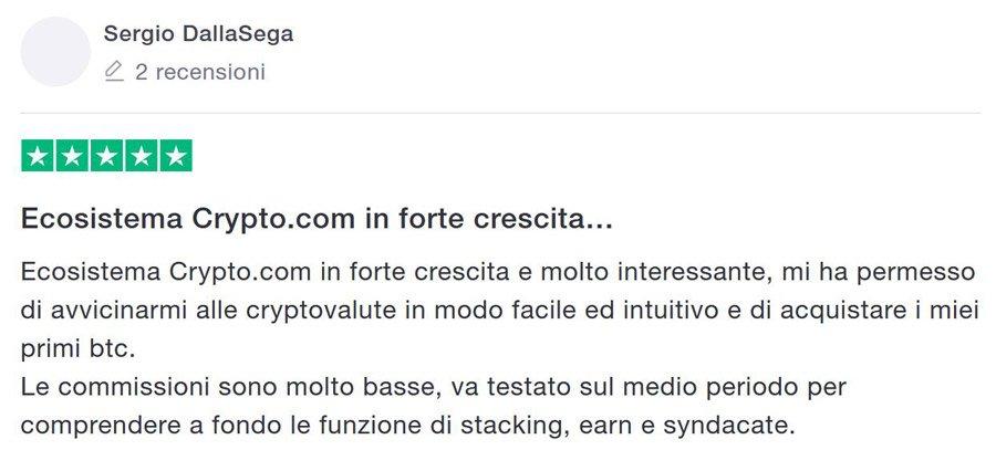 crypto.com recensione commissioni carta mco bonus