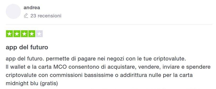 opinioni crypto.com bonus carta midnight blu