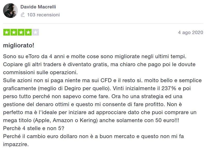 recensione esperienza etoro 2020 italia