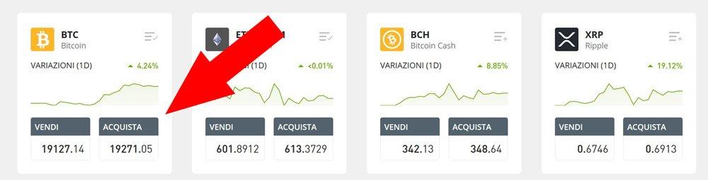 comprare bitcoin btc