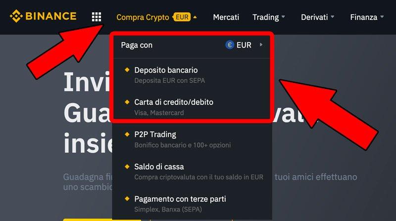 deposito euro per comprare dogecoin