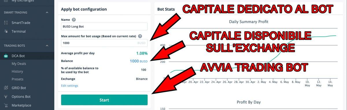 avviare crypto trading bot 3commas binance