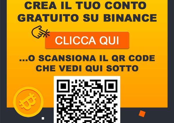 binance italia registrazione conto bonus